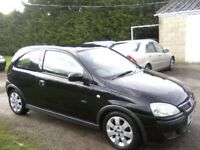 VAUXHALL CORSA 1-2 SXI 16v 3-DOOR 2003 (53 PLATE) PANTHER BLACK METALLIC, VERY ATTRACTIVE, ANY TRIAL