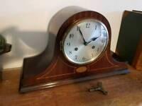 Antique Inlaid Junghans clock