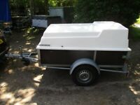 7-0 X 4-0 (750KG UNBRAKED) GALVANISED GOODS TRAILER WITH FIBREGLASS TOP....