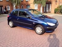 peugeot 206 hdi 1.4 3 door (£30 a year tax)