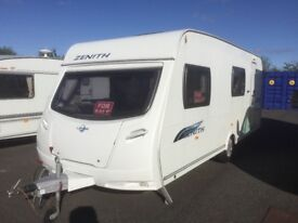 Lunar Zenith 6 Berth single axle Touring Caravan Excellent Condition, Bunk Beds Holiday Awning
