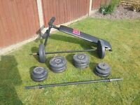 Weights and sit up bench