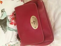 Red leather Mulberry bag
