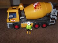 Playmobil Cement Mixer Lorry (ref: 3263)