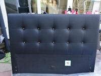 Small double bed head board and footboard