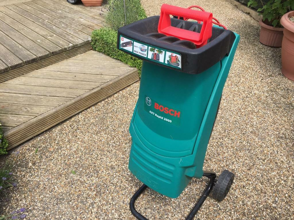 bosch axt rapid 2000 blade shredder 35 mm cutting capacity in aylesbury buckinghamshire. Black Bedroom Furniture Sets. Home Design Ideas