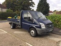 Transit flatbed recovery tipper cab chassis