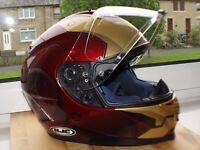 HJC IS-17 Iron Man Helmet. Head turner, Super quality Helmet. £175 small