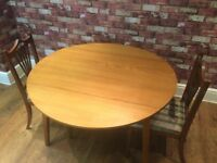 DROP LEAF TABLE AND 2 CHAIRS - CAN DELIVER LOCALLY ..