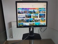 Dell 19 inch Monitor 1280 x 1024, 1908FPt, Good Quality, Fully Functional