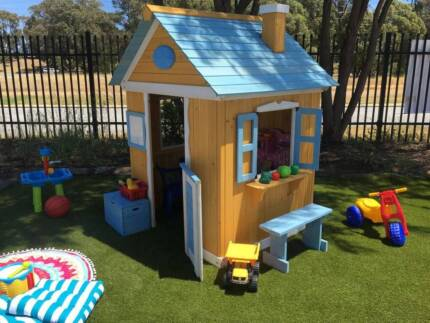 Wooden Ground Level Cubby House Play House Fort Kids Shack