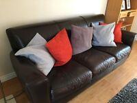 Natuzzi Brown Leather Sofa Suite