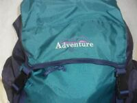 ADVENTURE VERY LARGE RUCKSACK - 5 COMPARTMENTS, LIGHTWEIGHT, PADDED BACK & STRAPS FOR MAX COMFORT