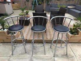 Chrome swivel bar stool / breakfast barstool RRP £42.50