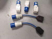 Job lot 45 x 16amp plug to 13amp single socket