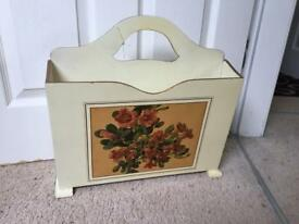 Vintage /antique magazine rack with gold edging now reduced
