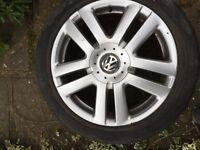 5x112 vw alloys with good tyres