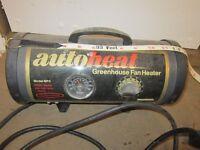 Greenhouse Fan Heater.