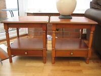 LAMP TABLES IN CHERRY