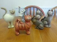 CAT ORNAMENTS SET OF 6