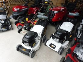 SELECTION NEW RIDE ON MOWERS AND LAWNMOWERS