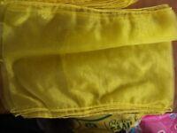 Lemon organza chair sashes