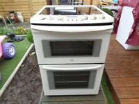 ZANUSSI CERAMIC ELECTRIC COOKER 60 CM DOUBLE OVEN