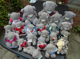 ME to YOU grey Tatty Teddy bears- collection set of 38!!!