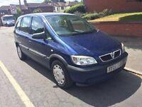 Vauxhall zafira life 7 seated 1.6litr for sale, MOT, drives nice.
