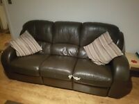 3 seater Leather recliner for sale