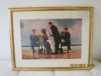 Two Jack Vettriano Pictures - both in gilt frames £10 each (Price Reduction)
