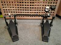 Double kick drum pedal