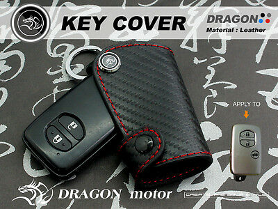 Leather Key fob Holder Case Chain Cover FIT For TOYOTA ALTIS WISH CAMRY 86 364B