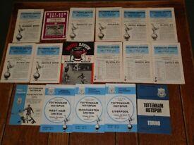 1960's and 1970's Tottenham Hotspur Programmes