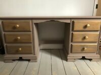 Pine dressing table/desk up-cycling project