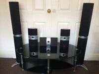 Pioneer Home Cinema High End Surround (5) Speakers, Crisp Clear High Quality Sound, Fully Working.