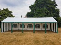 10 x 4 m Green and white Party Wedding Marquee.