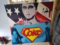 Scarface/superman print