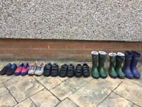 Boys shoes wellington boots child shoe sizes UK8 UK9 and UK10