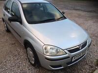 Vauxhall Corsa 1.2 life 2004 5 door 1 years mot silver