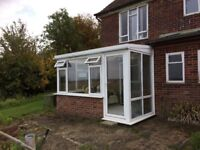 White UPVC conservatory, 2.98mx 3.415m x 1.63m, can help taking down & can deliver locally, £120.00