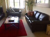 2 and 3 Seater Leather Brown Sofas for Sale