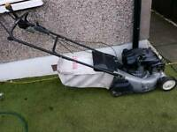 Lawnflite pro 448sjr self proppeled petrol lawnmower with grass box