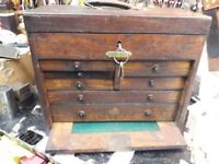 WANTED Engineering Tool makers box chest cabinets Pattern Watch maker carpenters kits cash pd