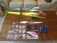 Goblin S 500 RC helicopter. BNF, fully upgraded, Mikado mini V-bar, KST servos, 2 lipo batteries