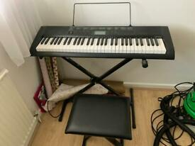Electronic keyboard and stool