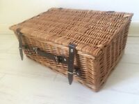Brand new wicker picnic hamper