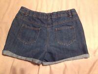 Denim Shorts Age 10-11 Good Condition
