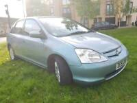 HONDA CIVIC AUTOMATIC,LEATHER SEATS, FULL SERVICE HISTORY WITH STAMPS, WARRANTED LOW MILEAGE