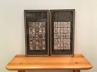 Vintage Framed Will's Cigarette Cards - 2 sets: Soldiers and Kings & Queens